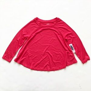 Old Navy NWT pink swing long sleeve top XS(5T)